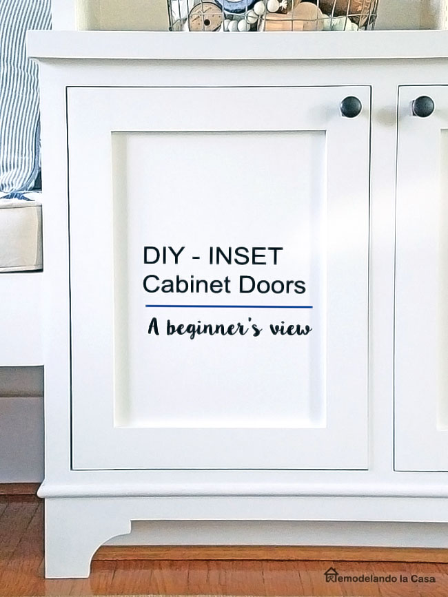 How to make inset cabinet doors - Shaker style -white base cabinet with door
