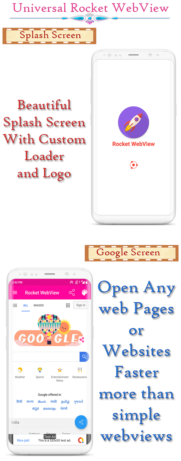Android Native Rocket Speed WebView App Full Template With Mobile OTP Login - 2