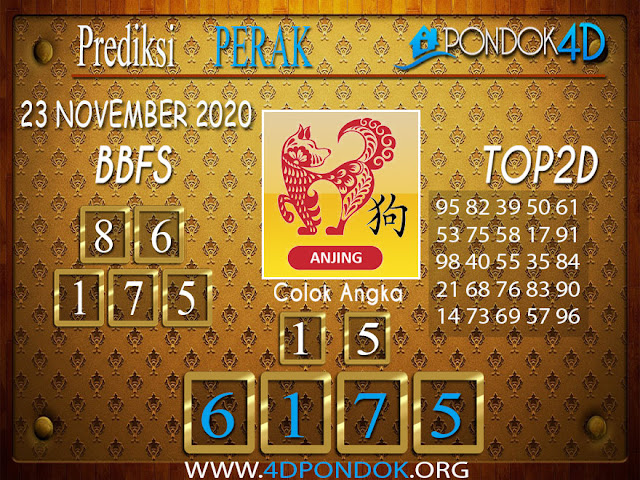 Prediksi Togel PERAK PONDOK4D 23 NOVEMBER 2020