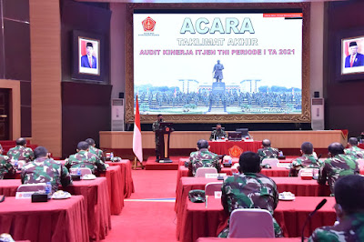 Danjen Akademi TNI Pimpin Acara Taklimat Akhir Audit Kinerja Itjen TNI
