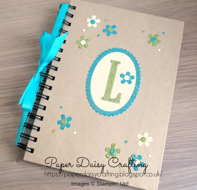 Large Letters Stampin' Up! personalised notebook