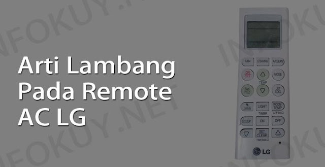 arti lambang pada remote ac lg
