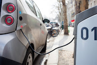 Car charging (Credit: Hakan Dahlstrom Flickr) Click to Enlarge.
