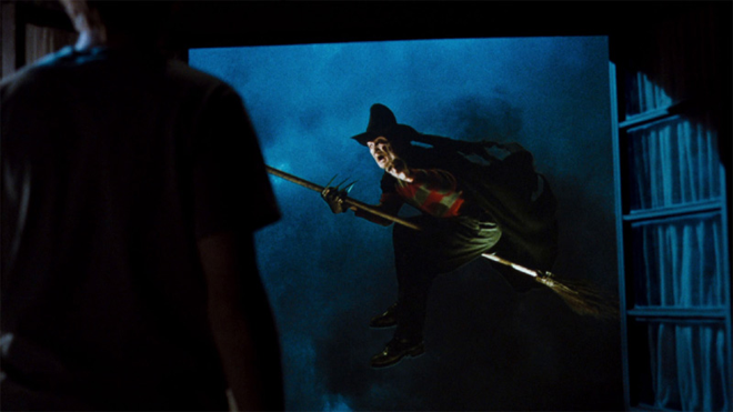 Freddy Krueger haciendo de bruja del oeste