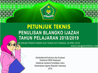 juknis penulisan ijazah kemenag tahun 2019