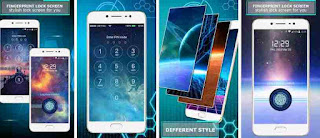 Aplikasi fingerprint Layar Kunci Sidik Jari