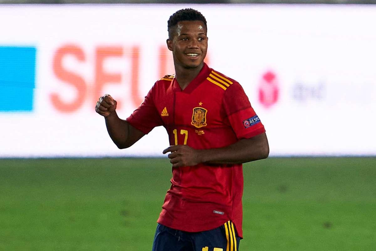 Spain and Barcelona wonderkid Ansu Fati