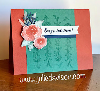 Stampin' Up! First Frost Congratulations Card ~ www.juliedavison.com