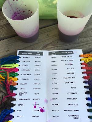 mixing dye for wool roving