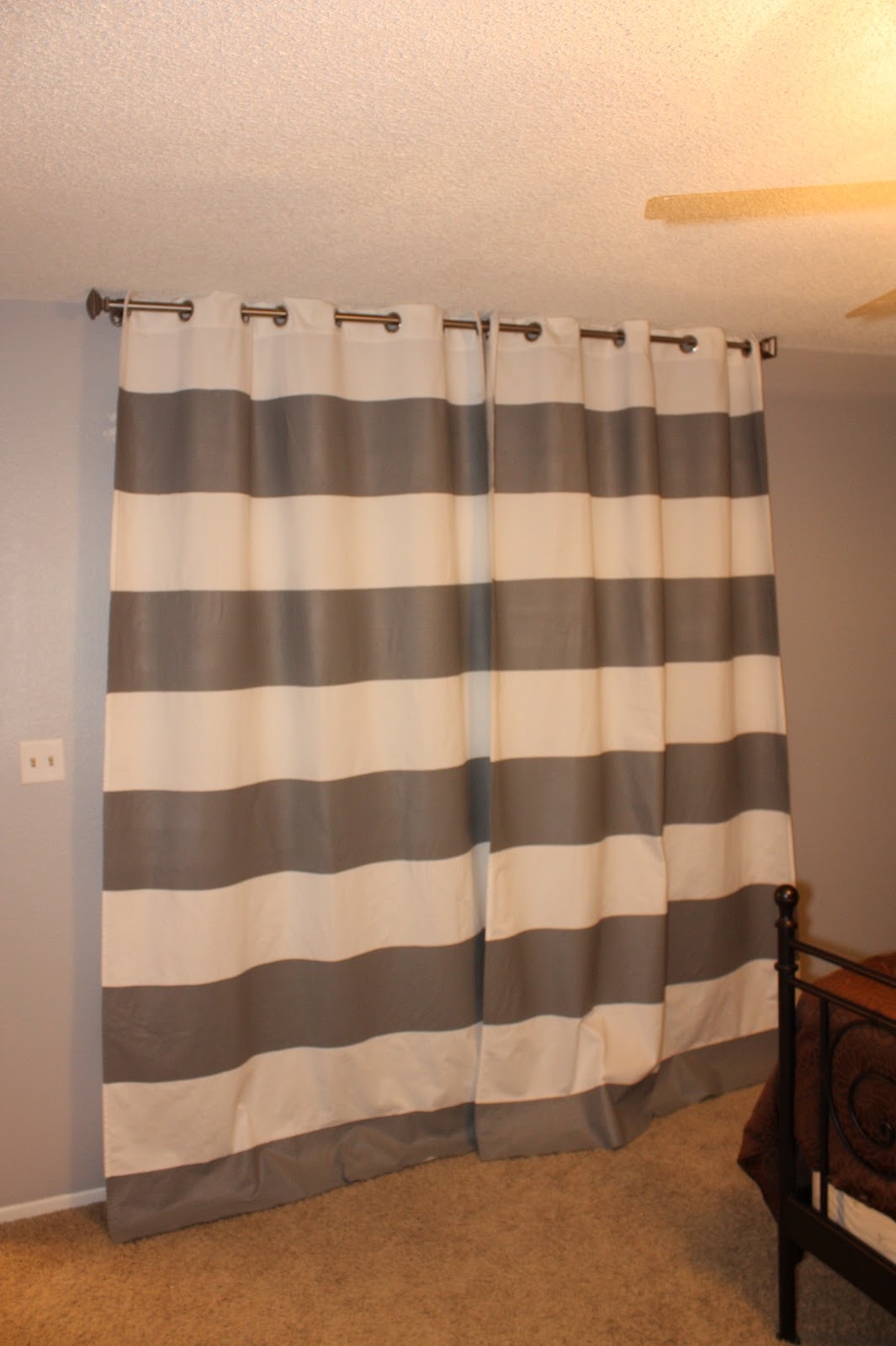 What Color Paint Makes A Room Look Bigger My Life How To Paint Your Own Curtains