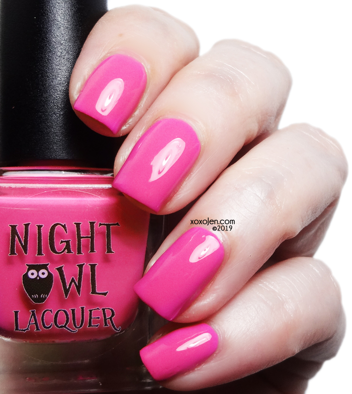 xoxoJen's swatch of Night Owl Lacquer: Wish Upon a Tulip