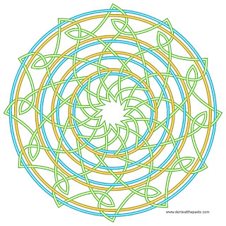 Knotwork with a blank version to color