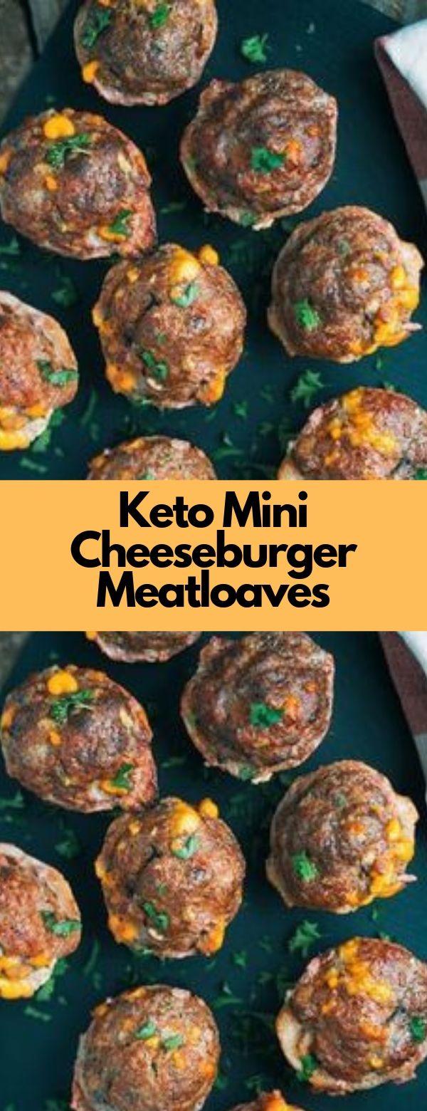 Keto Mini Cheeseburger Meatloaves Recipe #keto #cheeseburger #glutenfree