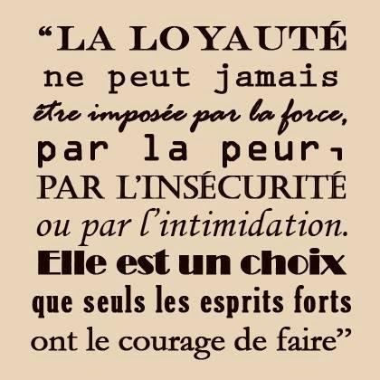 citations sur la loyauté