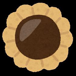クッキーのイラスト(花型)