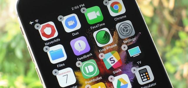 كيفية حذف التطبيقات فى iPhone X