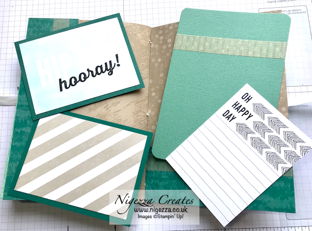 Nigezza Creates with Stampin' Up! Simple Masculine Sewn Journal Flip Through