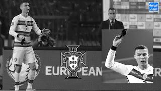 رونالدو يخرج غاضبا قبل صفارة النهاية لإعتراض على الحكم ،، والتعادل أمام المنتخب الصربي ,,, في  تصفيات كأس العالم 2022