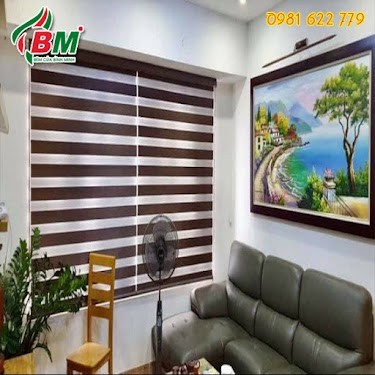 Rèm sáo cầu vồng (combi sofia) sang trọng gọn gàng lật mở tiết chế ánh sáng tùy ý,chuyên biệt cho cửa sổ phòng khách.