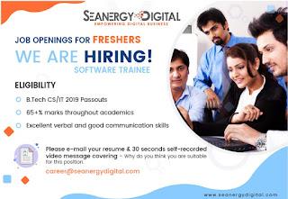 Freshers Jobs 8th Jan 2020