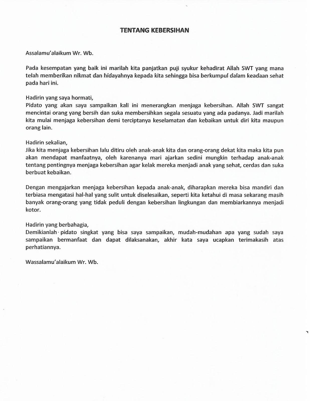 Contoh Teks Pidato Singkat Untuk Tugas Sekolah Blog Kang