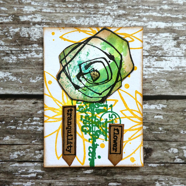 quirky flower stamp | ATC