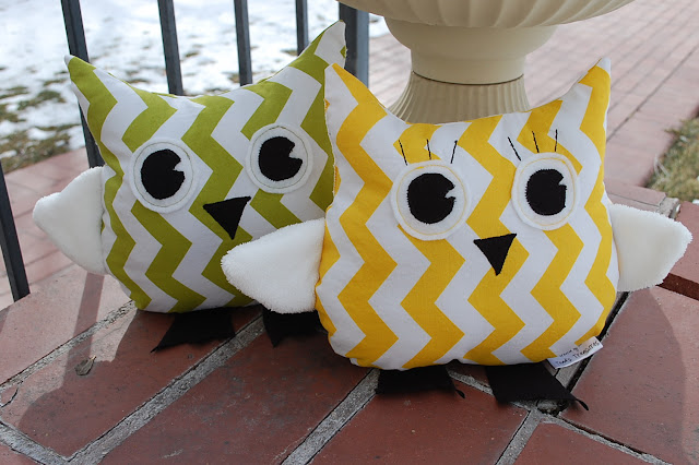 cute owl pattern Pottery Barn inspired