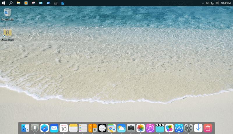 Cài đặt thanh dock với giao diện  iOS cho Windows 10