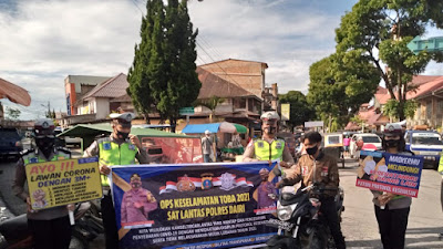Sat Lantas Polres Dairi Laksanakan Ops Keselamatan Toba 2021 Di Pusat Pasar Sidikakang