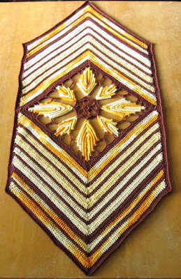 Fall Leaves Chevron Table Runner