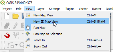 3D Map View Menu