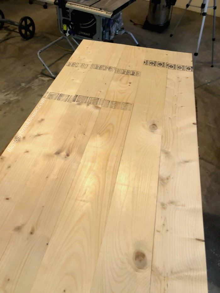 Pre-sanded coffee table top
