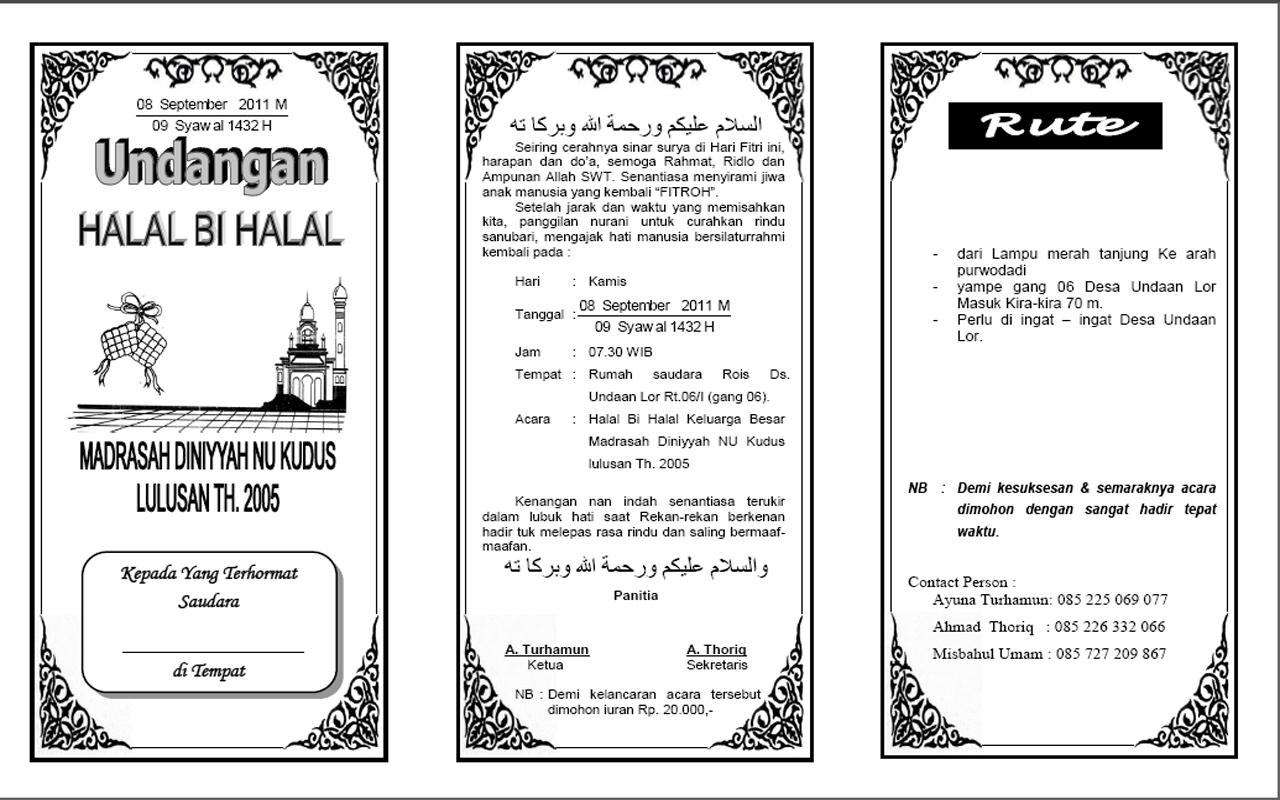 Contoh Undangan Halal Bihalal
