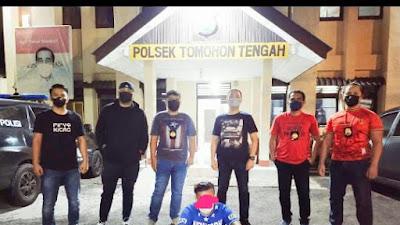 Tim Totosik Polres Tomohon, Tangkap Tukang Ojek Ngamuk di Kelurahan Talete