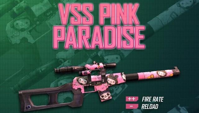 Gun Skin VSS Pink Paradise