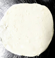 Rolled dough for bhature recipe