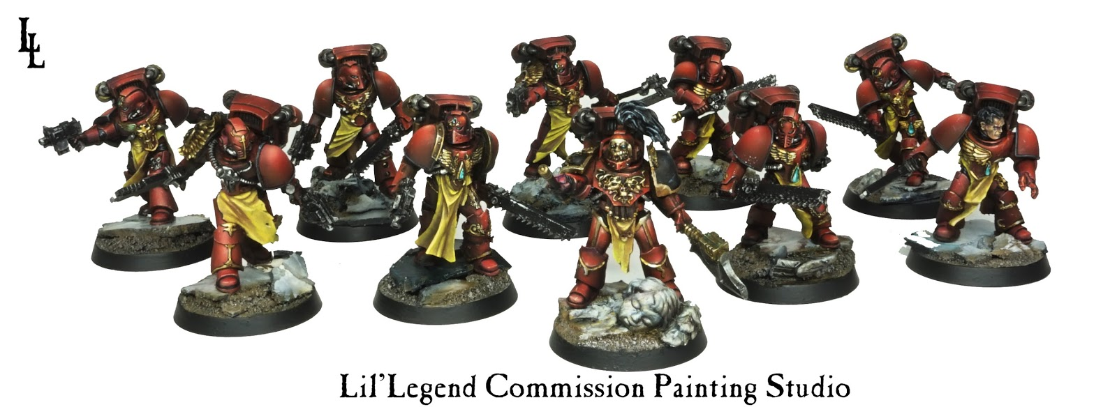 Ranks In Marine >> Blood Angels' Gorgeous Horus Heresy Assault Squads - Spikey Bits