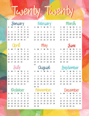 free printable one page calendar