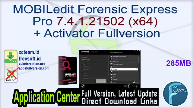 MOBILedit Forensic Express Pro 7.4.1.21502 (x64) + Activator Fullversion