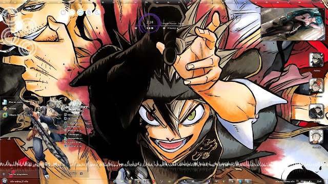 Black Clover Theme Win 7 by Andrea_37