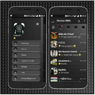 BBM Mod Black Shadow Edition V3.0.1.25 Apk