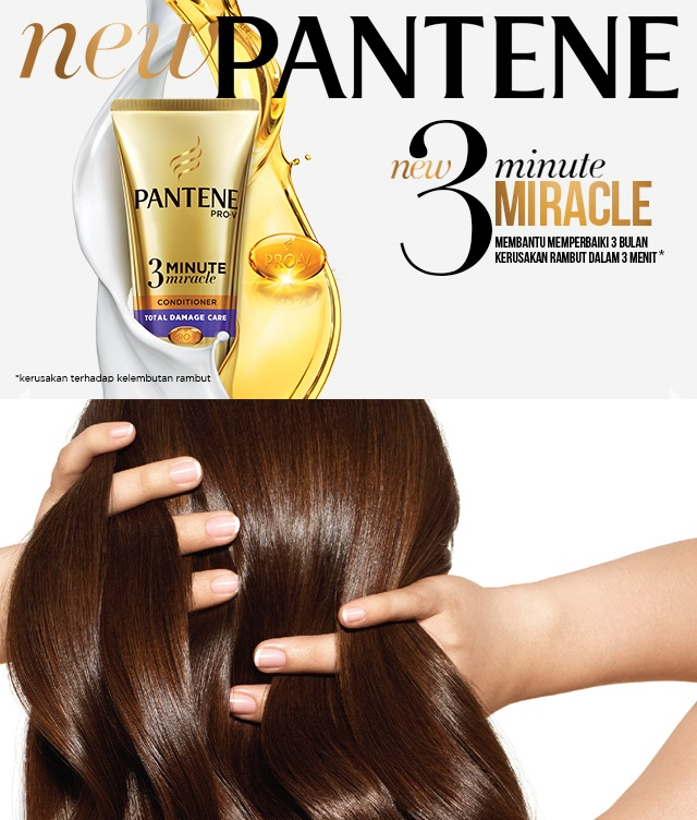 Review Pantene Pro V 3 Minute Miracle Conditioner Total Damage Care Beauty Blogger Medan Christy Vero Tipsobrolanmanis