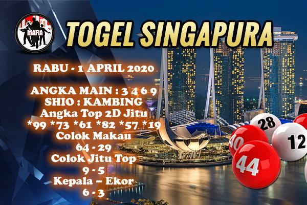 Prediksi SGP Rabu 01 April 2020 - Prediksi Mafia SGP