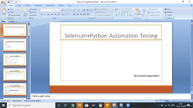 Selenium webdriver using python for beginners