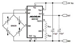 MAX1452 Ratiometric Output Configuration Circuit and Datasheet