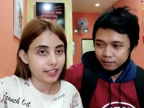 Pasangan Youtuber asal Tulungagung Rico dan wania India Sheevi