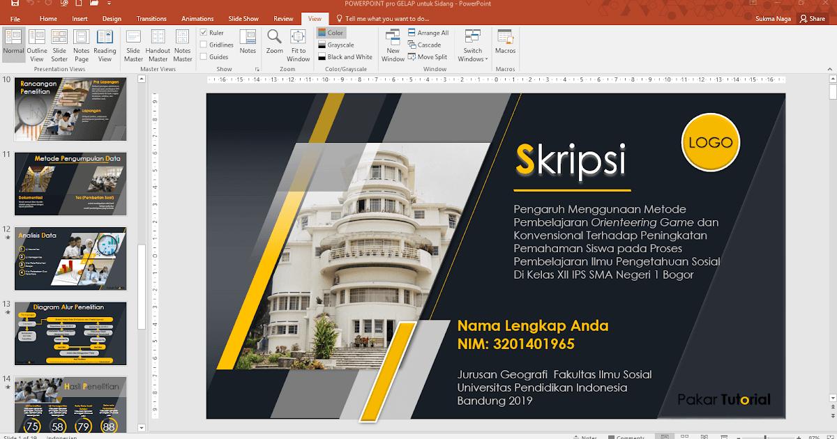 File Ppt Untuk Sidang Skripsi Tesis Dan Disertasi Pakar Tutorial