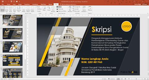 File PPT untuk Sidang Skripsi, Tesis dan Disertasi