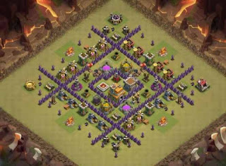 Base Clash Of Clans TH 7 anti naga