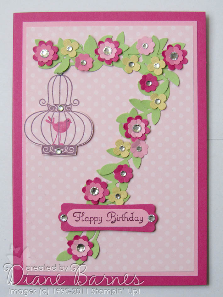 Colour Me Happy 7th Birthday Blossoms Bling